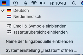 Tastatur mehrsprachig