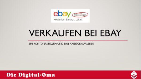 Ebay-Kleinanzeigen aufgeben